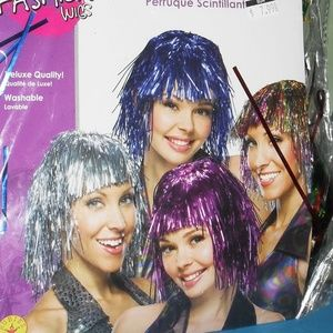 NWT Rubie's  Many color   Tinsel Wig